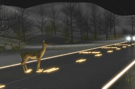 Đường bộ tương lai sử dụng năng lượng mặt trời để chiếu sáng mặt đường