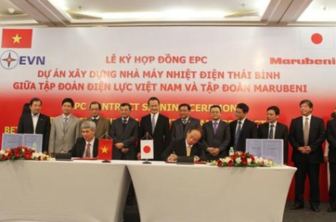 Ký hợp đồng EPC dự án xây dựng nhà máy nhiệt điện Thái Bình