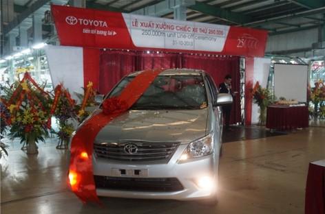 Toyota Việt Nam xuất khẩu phụ tùng đạt 39,2 triệu USD