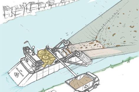 Ý tưởng máy hút chân không khổng lồ giúp làm sạch sông