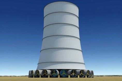 Solar Wind Energy giới thiệu hệ thống điện gió hybrid Downdraft Tower