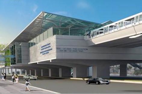 Mô hình thiết kế nhà ga metro ở thủ đô