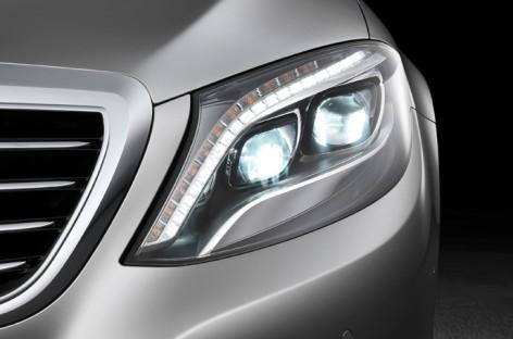 Tìm hiểu hệ thống đèn pha LED trên S Class thế hệ VI