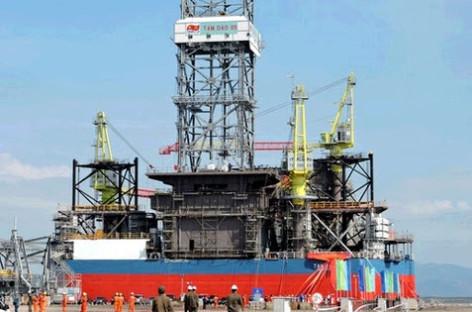 Việt Nam hạ thủy giàn khoan dầu Tam Đảo 05