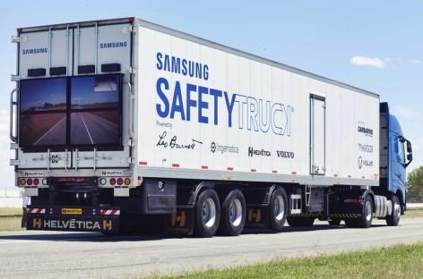 Ý tưởng xe tải an toàn của Samsung bắt đầu được thử nghiệm ở Argentina