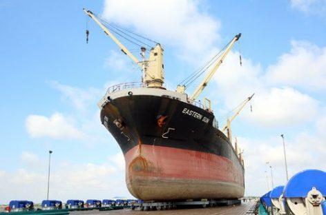 Nhà máy sửa chữa tàu biển Nosco Vinalines đón và sửa chữa tàu biển đầu tiên