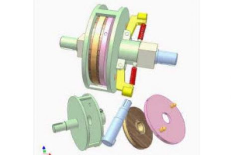 [Mô phỏng cơ cấu cơ khí] Ly hợp ly tâm 2