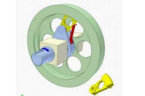 [Mô phỏng cơ cấu cơ khí] Ly hợp siêu việt dùng chêm 4