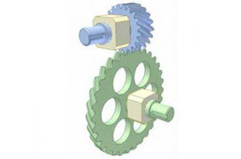 [Mô phỏng cơ cấu cơ khí] Bộ truyền bánh răng xoắn 1a