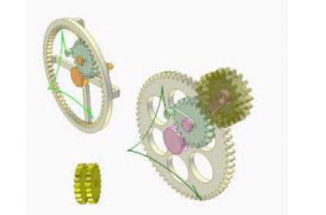 [Mô phỏng cơ cấu cơ khí] Bộ truyền răng trong và răng ngoài