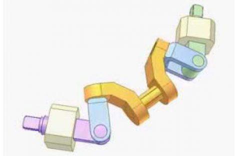 [Mô phỏng cơ cấu cơ khí] Cơ cấu truyền động góc 4R 2