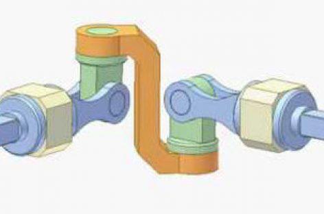 [Mô phỏng cơ cấu cơ khí] Cơ cấu truyền động góc 4R 1