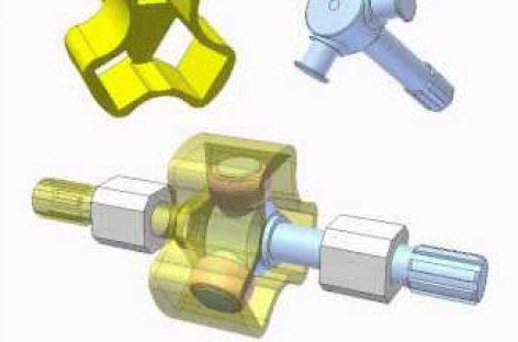 [Mô phỏng cơ cấu cơ khí] Khớp trục 3 chạc 1
