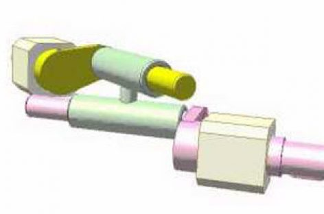 [Mô phỏng cơ cấu cơ khí] Khớp trục giữa hai trục chéo nhau 1