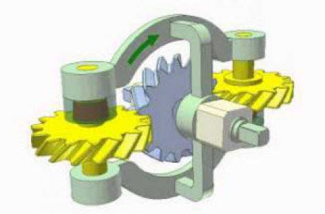 [Mô phỏng cơ cấu cơ khí] Ly hợp siêu việt bánh răng xoắn