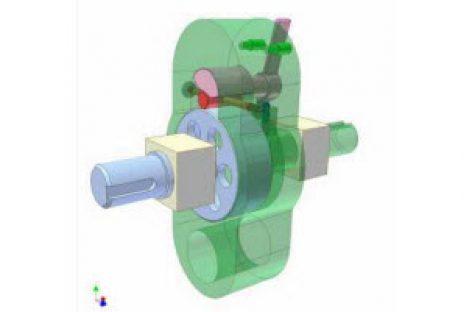 [Mô phỏng cơ cấu cơ khí] Ly hợp siêu việt con lăn 3