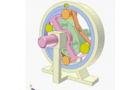 [Mô phỏng cơ cấu cơ khí] Truyền động chống quay ngược 1b