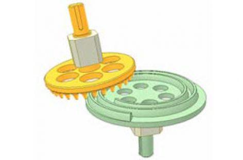 [Mô phỏng cơ cấu cơ khí] Bánh răng xoắn Acsimet và bánh chốt 2
