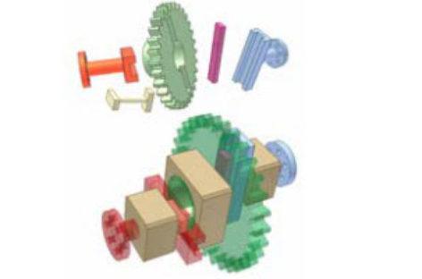 [Mô phỏng cơ cấu cơ khí] Biến đổi vận tốc nhờ cơ cấu Oldham 1