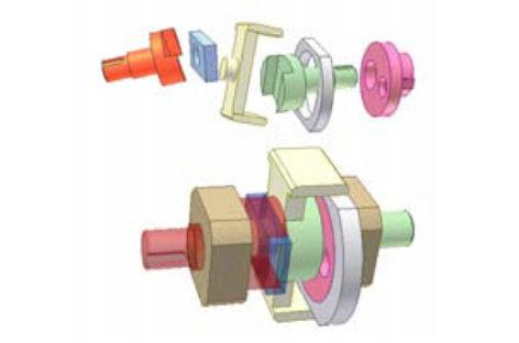 [Mô phỏng cơ cấu cơ khí] Biến đổi vận tốc nhờ cơ cấu Oldham 2