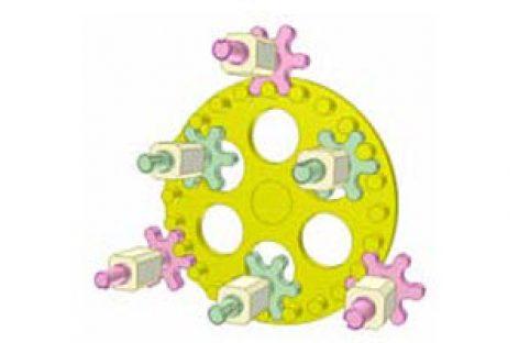 [Mô phỏng cơ cấu cơ khí] Bộ truyền bánh răng chốt 2
