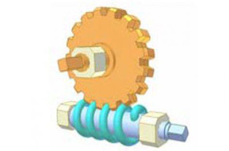 [Mô phỏng cơ cấu cơ khí] Bộ truyền trục vít 10: Lò xo