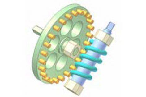 [Mô phỏng cơ cấu cơ khí] Bộ truyền trục vít 11: Lò xo và chốt