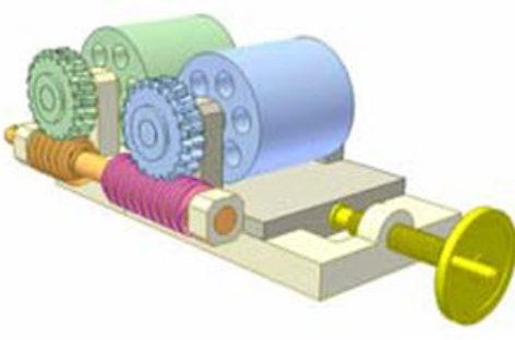 [Mô phỏng cơ cấu cơ khí] Bộ truyền trục vít 3: Rolling worm wheel