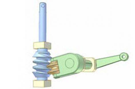 [Mô phỏng cơ cấu cơ khí] Bộ truyền trục vít lõm dùng cho cơ cấu lái ô tô