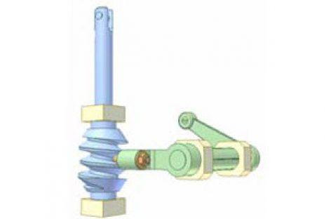 [Mô phỏng cơ cấu cơ khí] Bộ truyền trục vít lõm và bánh chốt