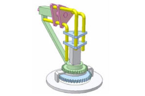 [Mô phỏng cơ cấu cơ khí] Cơ cấu thanh truyền động góc ổ di động