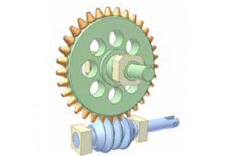 [Mô phỏng cơ cấu cơ khí] Globoid worm and pin gear