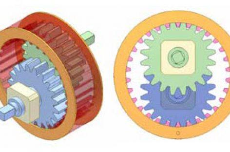 [Mô phỏng cơ cấu cơ khí] Khớp trục 3 bánh răng trụ 1