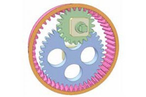 [Mô phỏng cơ cấu cơ khí] Khớp trục 3 bánh răng trụ 2