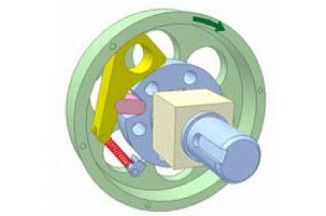 [Mô phỏng cơ cấu cơ khí] Ly hợp siêu việt dùng chêm 3