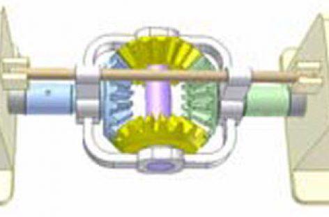 [Mô phỏng cơ cấu cơ khí] Truyền động bánh răng côn để đảo chiều quay 1