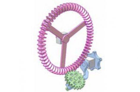 [Mô phỏng cơ cấu cơ khí] Truyền động bánh răng răng ngoài và răng trong có điều chỉnh góc giữa hai trục