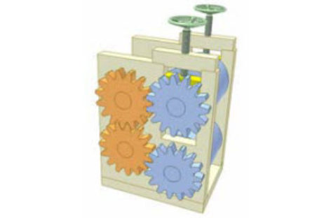[Mô phỏng cơ cấu cơ khí] Truyền động giữa hai trục song song, vị trí điều chỉnh được 1