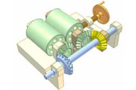 [Mô phỏng cơ cấu cơ khí] Truyền động giữa hai trục song song, vị trí điều chỉnh được 3