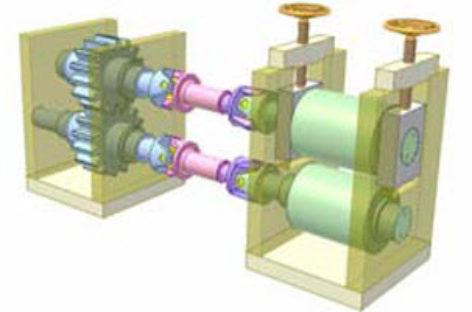 [Mô phỏng cơ cấu cơ khí] Truyền động giữa hai trục song song, vị trí điều chỉnh được 4