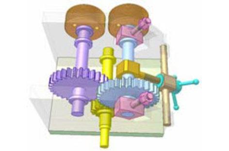 [Mô phỏng cơ cấu cơ khí] Truyền động giữa hai trục song song, vị trí điều chỉnh được 5
