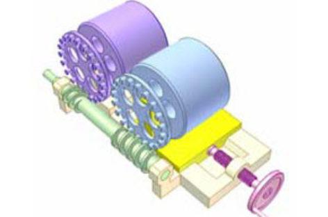 [Mô phỏng cơ cấu cơ khí] Truyền động giữa hai trục song song, vị trí điều chỉnh được 6