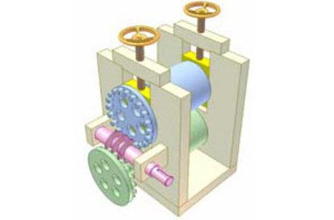 [Mô phỏng cơ cấu cơ khí] Truyền động giữa hai trục song song, vị trí điều chỉnh được 7