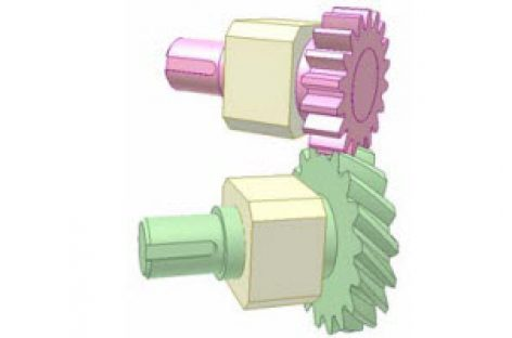 [Mô phỏng cơ cấu cơ khí] Bộ truyền bánh răng xoắn 1b