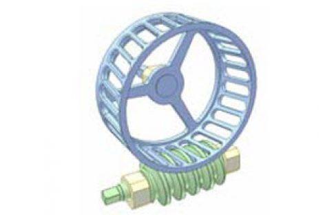 [Mô phỏng cơ cấu cơ khí] Bộ truyền trục vít 13: Đột rãnh