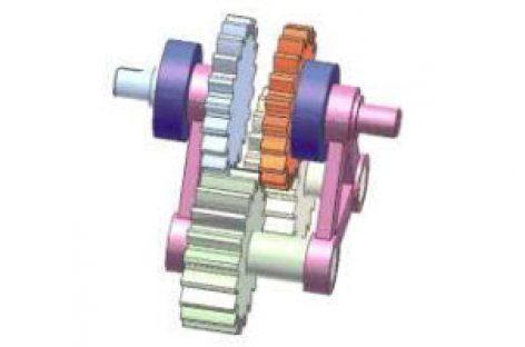 [Mô phỏng cơ cấu cơ khí] Giảm tốc bằng các bánh răng có cùng số răng 4