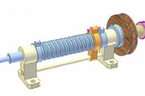 [Mô phỏng cơ cấu cơ khí] Shaft rotation limiter 2