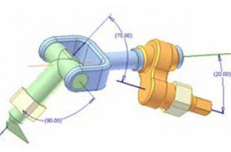 [Mô phỏng cơ cấu cơ khí] Cơ cấu cầu 4R 1a