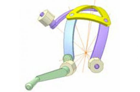 [Mô phỏng cơ cấu cơ khí] Cơ cấu cầu 6 khâu bản lề