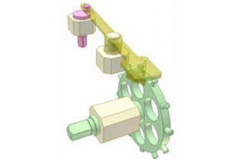 [Mô phỏng cơ cấu cơ khí] Cơ cấu cóc không gian 2